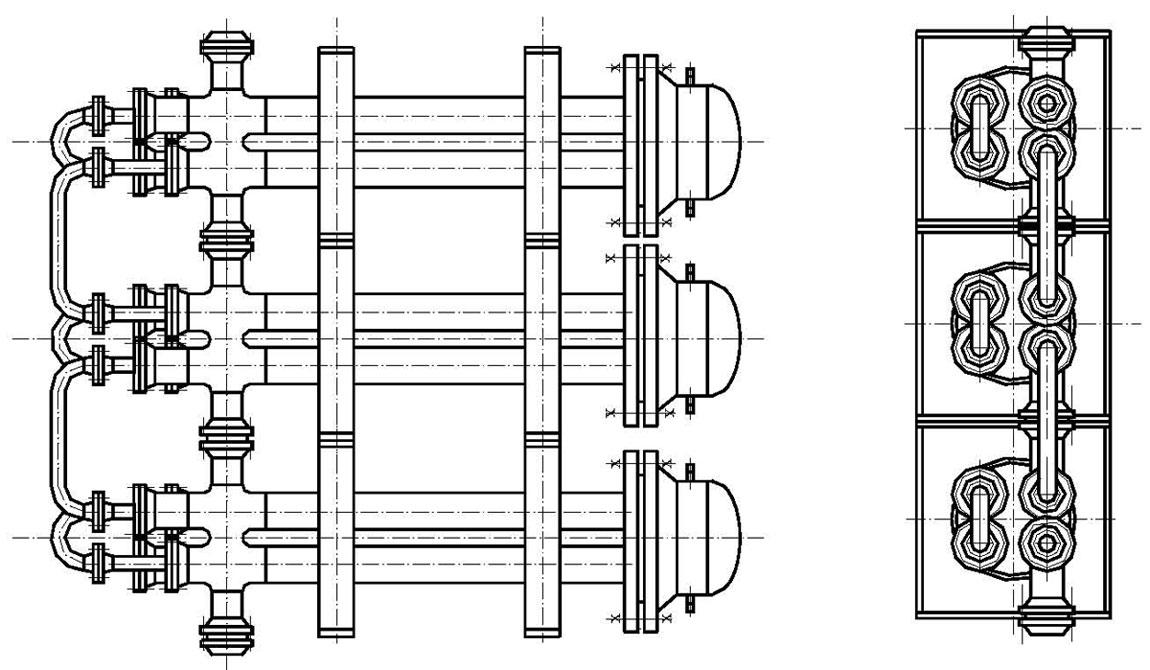 Разборный теплообменник труба в трубе Подогреватель высокого давления ПВ-1550-380-70-1 Соликамск
